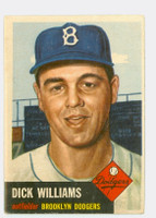 1953 Topps Baseball 125 Dick Williams