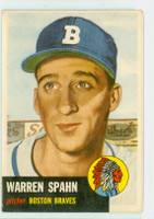 1953 Topps Baseball 147 Warren Spahn Single Print