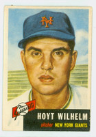 1953 Topps Baseball 151 Hoyt Wilhelm Single Print