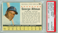 George Altman AUTOGRAPH 1961 Post #195 Cubs BOX PSA/DNA 