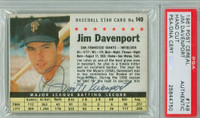 Jim Davenport AUTOGRAPH d.16 1961 Post #149 Giants BOX PSA/DNA 