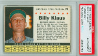 Billy Klaus AUTOGRAPH d.06 1961 Post #79 Orioles BOX PSA/DNA 