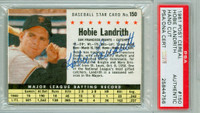 Hobie Landrith AUTOGRAPH 1961 Post #150 Giants BOX PSA/DNA 