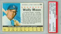 Wally Moon AUTOGRAPH d.18 1961 Post #159 Dodgers BOX PSA/DNA 