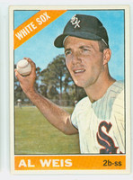 1966 Topps Baseball 66 Al Weis  [SKU:Y66_T66BB_066a_2gvgrs]  Chicago White Sox Good to Very Good