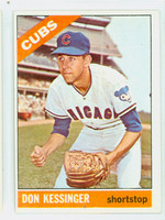 1966 Topps Baseball 24 Don Kessinger ROOKIE  [SKU:Y66_T66BB_024a_4vgers]  Chicago Cubs Very Good to Excellent