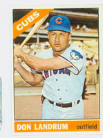 1966 Topps Baseball 43 b Don Landrum NO BUTTON  [SKU:Y66_T66BB_043b_4vgers]  Chicago Cubs Very Good to Excellent