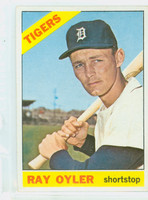 1966 Topps Baseball 81 Ray Oyler  [SKU:Y66_T66BB_081a_4vgers]  Detroit Tigers Very Good to Excellent