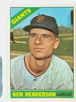 1966 Topps Baseball 39 Ken Henderson  [SKU:Y66_T66BB_039a_5exrs]  San Francisco Giants Excellent