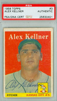 Alex Kellner AUTOGRAPH d.96 1958 Topps #3 Athletics PSA/DNA 