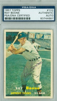 Ray Boone AUTOGRAPH d.04 1957 Topps #102 Tigers PSA/DNA CARD IS CLEAN VG/EX  [SKU:BoonR279_T57BBAPpa]