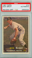 Dick Groat AUTOGRAPH 1957 Topps #12 Pirates PSA/DNA CARD IS SHARP EX/MT  [SKU:GroaD1875_T57BBA2pa]