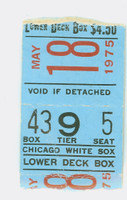 1975 Chicago White Sox Ticket Stub vs Cleveland Indians Gaylord Perry Win #203 Eckersley SV #2 - May 18, 1975 Good to Very Good Crease; torn from both ends