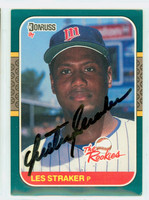 Les Straker AUTOGRAPH 1987 Donruss Rookies Twins 