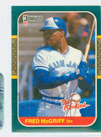 Fred McGriff AUTOGRAPH 1987 Donruss Rookies Blue Jays 