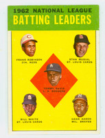 1963 Topps Baseball 1 NL Batting Leaders
