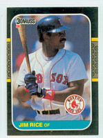 1987 Donruss Baseball Jim Rice Boston Red Sox Near-Mint to Mint