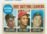 1968 Topps Baseball 1 NL Batting Leaders Very Good to Excellent