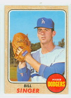 1968 Topps Baseball 249 Bill Singer Los Angeles Dodgers Very Good to Excellent