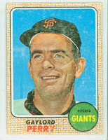 1968 Topps Baseball 85 Gaylord Perry San Francisco Giants Fair to Poor