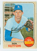 1968 Topps Baseball 103 Don Sutton Los Angeles Dodgers Fair to Poor