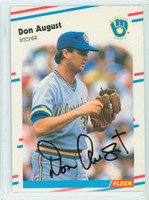 Don August AUTOGRAPH 1988 Fleer Traded #37 Brewers 