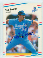 Ted Power AUTOGRAPH 1988 Fleer Traded #33 Royals 