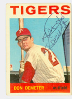 Don Demeter AUTOGRAPH 1964 Topps #58 Tigers CARD IS CLEAN G/VG; CRN WEAR  [SKU:DemeD1481_T64BBAP]