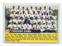1956 Topps Baseball 11 c Cubs Team NO DATE