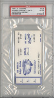 1980 Los Angeles Dodgers Ticket Stub vs Astros Mike Scioscia ML Debut - Apr 20, 1980 Very Good to Excellent