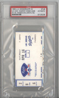 1983 Los Angeles Dodgers Ticket Stub vs Padres Steve Garvey Consecutive Game #1118 Passes Billy Williams - Apr 16, 1983