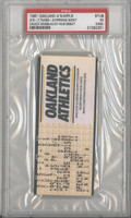 1991 Oakland Athletics Ticket Stub vs Twins Opening Night Chuck Knoblauch Debut - Apr 9, 1991 Excellent