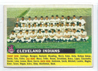 1956 Topps Baseball 85 c Indians Team NO DATE  [SKU:Y56_T56BB_085cg6exmrs]  Excellent to Mint Grey Back