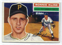 1956 Topps Baseball 94 Ron Kline  [SKU:Y56_T56BB_094ag5exprs]  Pittsburgh Pirates Excellent to Excellent Plus Grey Back