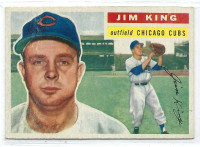 1956 Topps Baseball 74 Jim King  [SKU:Y56_T56BB_074aw5exrs]  Chicago Cubs Excellent White Back