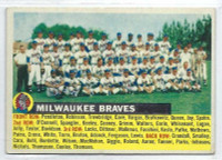 1956 Topps Baseball 95 c Braves Team NO DATE  [SKU:Y56_T56BB_095cg5exrs]  Excellent Grey Back