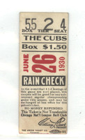 1930 Chicago Cubs Ticket Stub vs Brooklyn WP Dazzy Vance, Hack Wilson 3 for 3 - Jun 26, 1930 [Lt crease on reverse, ow clean] by Mickeys Cards