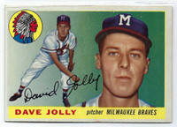 1955 Topps Baseball 35 Dave Jolly  [SKU:Y55_T55BB_035a_6exmrs]  Milwaukee Braves Excellent to Mint