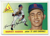 1955 Topps Baseball 43 Harvey Haddix  [SKU:Y55_T55BB_043a_6exmrs]  St. Louis Cardinals Excellent to Mint