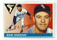 1955 Topps Baseball 10 Bob Keegan  [SKU:Y55_T55BB_010a_5exprs]  Chicago White Sox Excellent to Excellent Plus