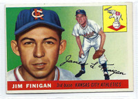 1955 Topps Baseball 14 Jim Finigan  [SKU:Y55_T55BB_014a_5exprs]  Kansas City Athletics Excellent to Excellent Plus