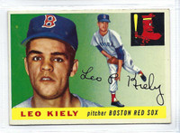 1955 Topps Baseball 36 Leo Kiely  [SKU:Y55_T55BB_036a_5exprs]  Boston Red Sox Excellent to Excellent Plus