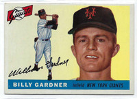 1955 Topps Baseball 27 Billy Gardner  [SKU:Y55_T55BB_027a_5exrs]  New York Giants Excellent