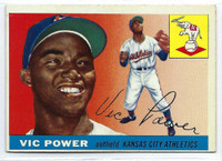 1955 Topps Baseball 30 Vic Power  [SKU:Y55_T55BB_030a_5exrs]  Kansas City Athletics Excellent