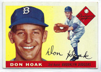1955 Topps Baseball 40 Don Hoak  [SKU:Y55_T55BB_040a_5exrs]  Brooklyn Dodgers Excellent