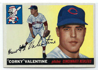 1955 Topps Baseball 44 Corky Valentine  [SKU:Y55_T55BB_044a_5exrs]  Cincinnati Reds Excellent