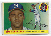 1955 Topps Baseball 15 Jim Pendleton