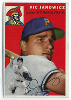 1954 Topps Baseball 16 Vic Janowicz  [SKU:Y54_T54BB_016a_6exmrs]  Pittsburgh Pirates Excellent to Mint