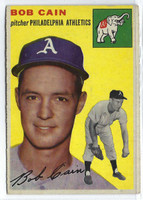 1954 Topps Baseball 61 Bob Cain Tough Series  [SKU:Y54_T54BB_061a_5exrs]  Oakland Athletics Excellent