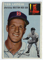 1954 Topps Baseball 66 Ted Lepcio Tough Series  [SKU:Y54_T54BB_066a_5exrs]  Boston Red Sox Excellent